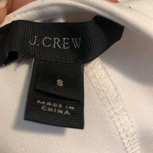 J. Crew Tops - J.Crew Structured Flutter Peplum Cream Top